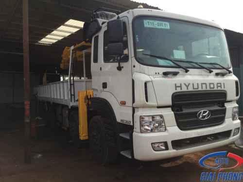 Xe Tải 5 Chân Hyundai HD360 Gắn Cẩu Soosan SCS1015LS