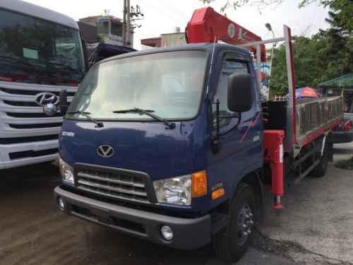Xe Tải 6.5 Tấn Hyundai HD99 Gắn Cẩu Unic UR-V344 3 Tấn 4 Khúc
