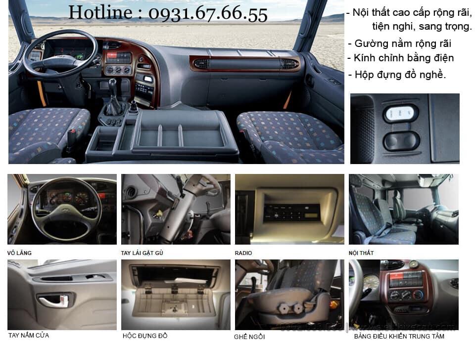 nội thất xe tải hyundai hd320
