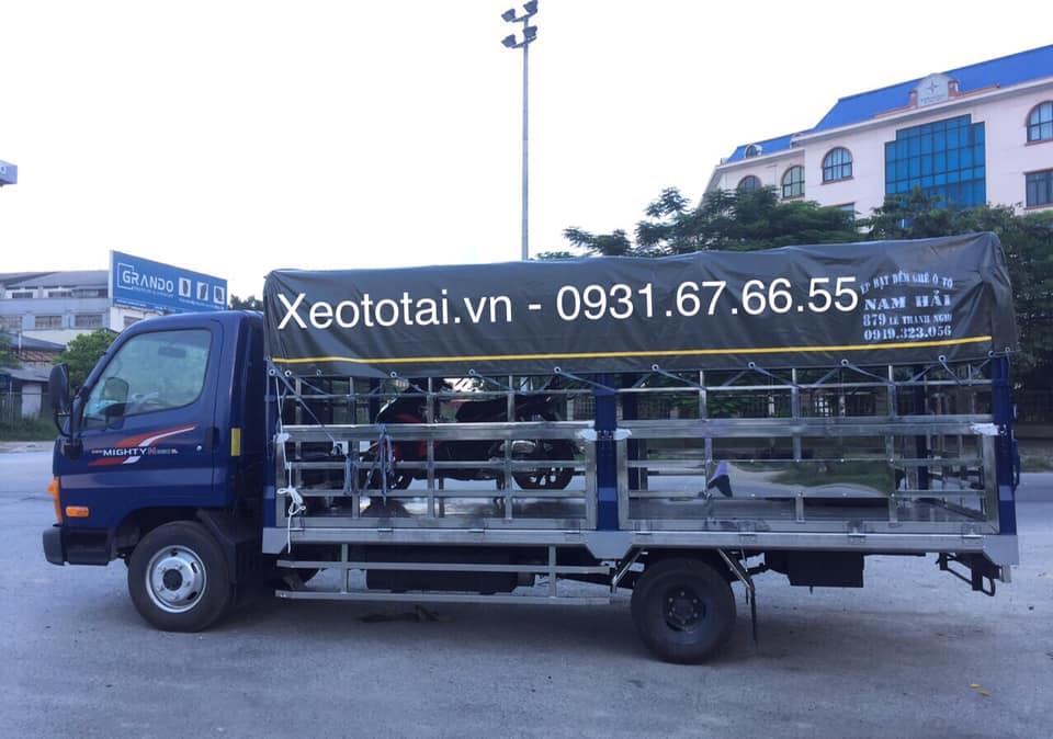 xe tải hyundai n250sl thùng chở gà